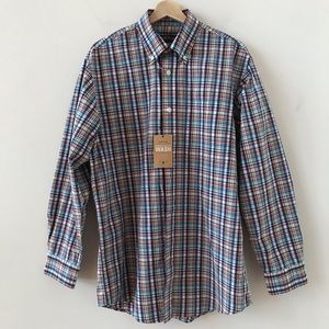 NWT Orvis Heritage Wash plaid button down
